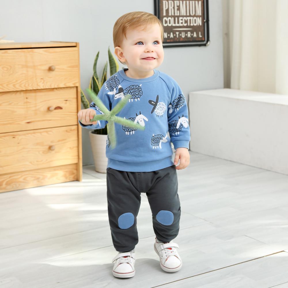 Ciciibear conjuntos para niños primavera otoño nueva ropa para niños 100% suéter de algodón para niños + pantalones traje niño niña 1 2 3 4