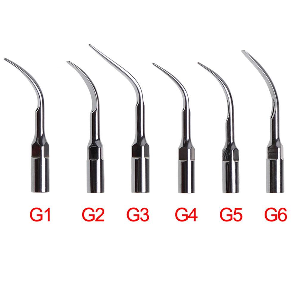 dental endo perio scaling tips for ems ultrasonic scaler handpiece 5PCS Dental Ultrasonic Perio Scaler Tips G1/G2/G3/G4/G5/G6 Scaling Endo Piezo Tip Fit EMS CE Certification