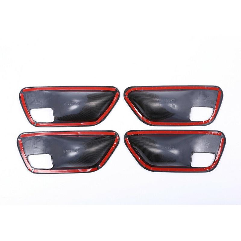 Cover Door Handle Bowl For BMW 3 4 Series F30 3GT F34 F36 2014+ Parts Accessories Carbon Fiber Black