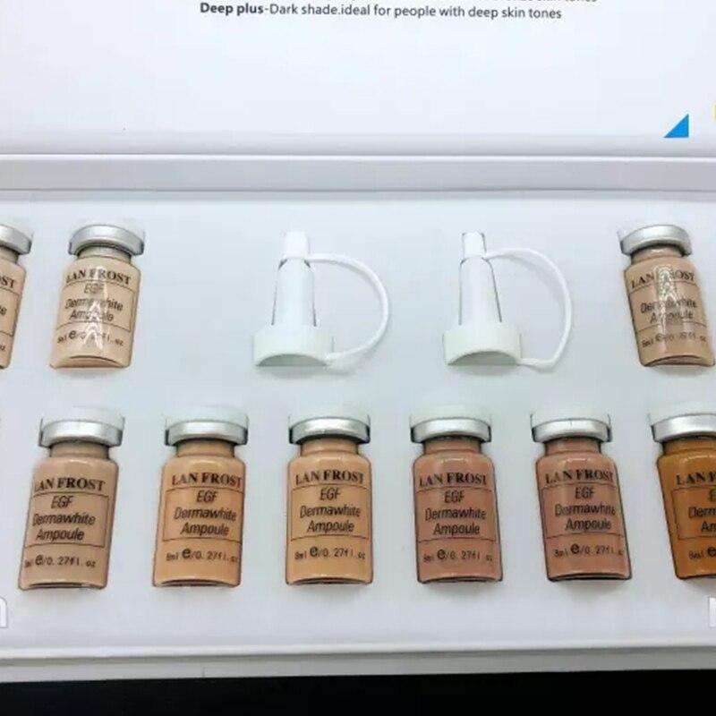BB Cream Glow Booster Starter Kit Mesowhite blanqueamiento Cultivo de células madre oro sueros Dermawihte EGF péptido mezclado pigmento ampolla