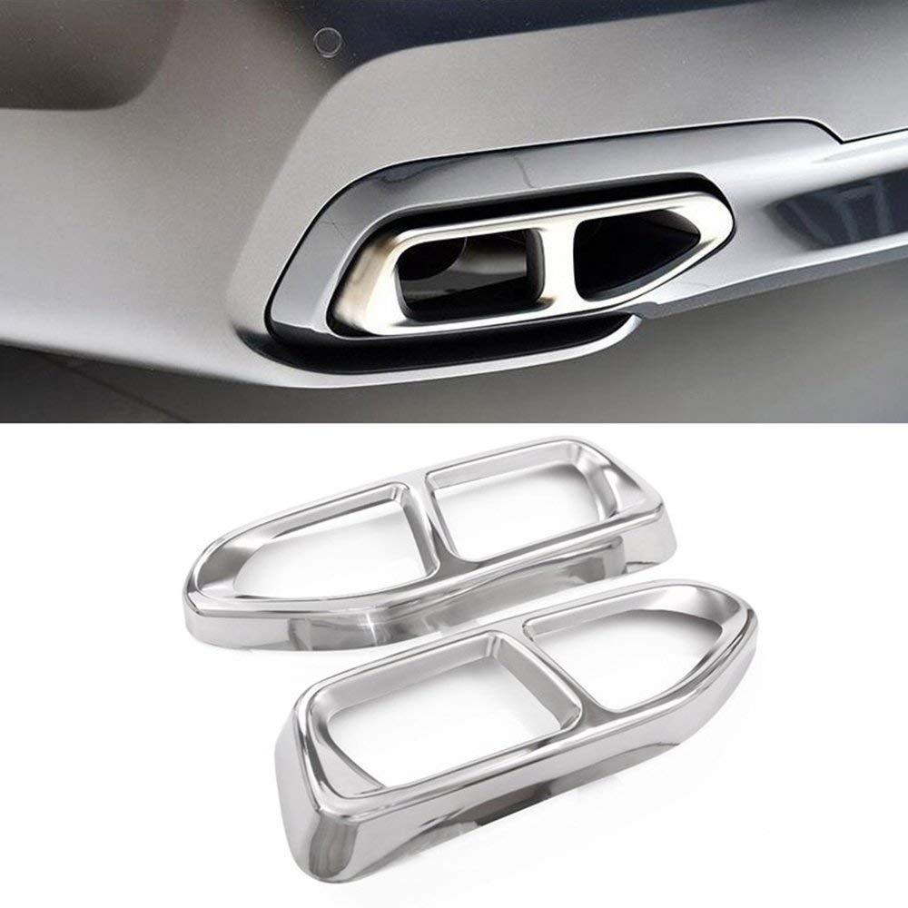 De acero inoxidable de gases de escape de los automóviles tubo de cola de adornos para BMW serie 7 G11 G12 730 740 750i 2016-2018 M versión modelo