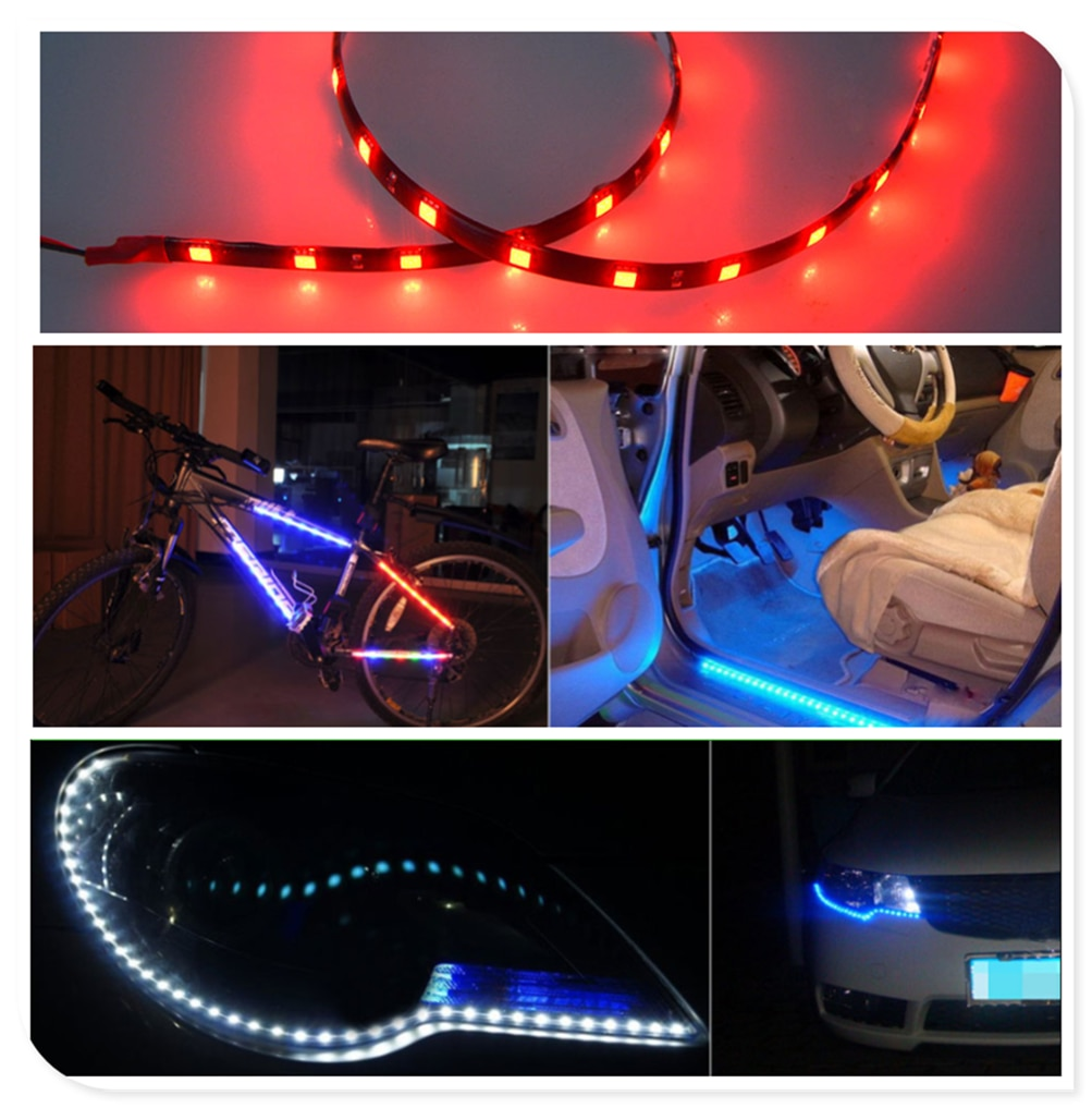 2 piezas de luz decorativa LED para coche de motocicleta barra suave de 30CM para Subaru VIZIV-2 híbrido Exiga Tribeca G4e b9 R1 Pleo