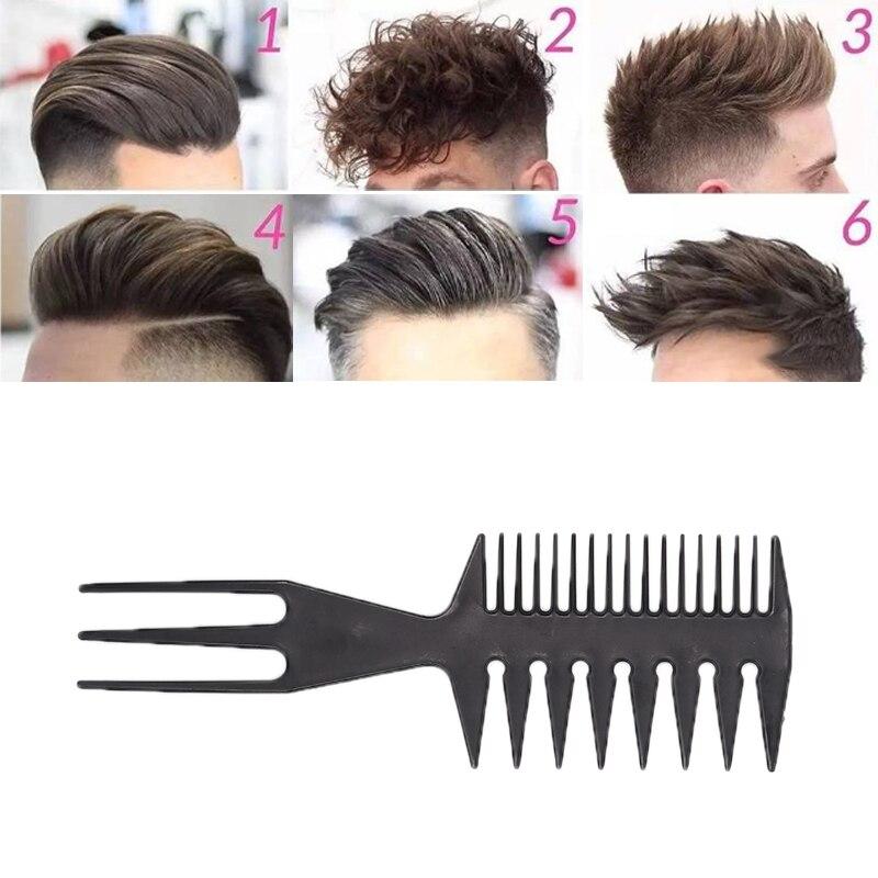 Peines profesionales de doble diente lateral, cepillo para teñir el pelo de barbero, cepillo para teñir el cabello con forma de hueso de pescado, herramientas de estilismo para el cabello de hombre
