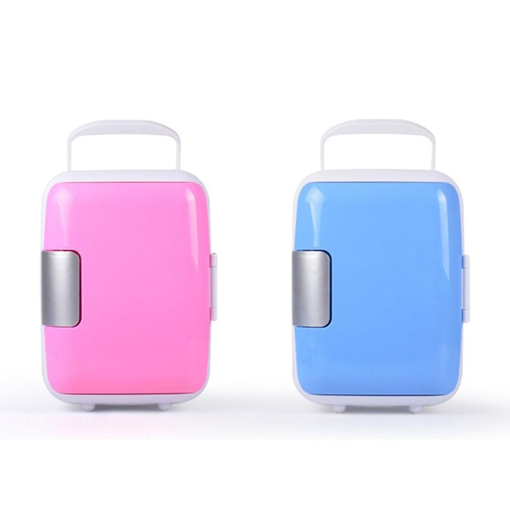 4L Mini Car Fridge Refrigerator Freezer Heater Cooler Warmer Electric Fridge Portable Icebox Travel Refrigerator Home Appliances