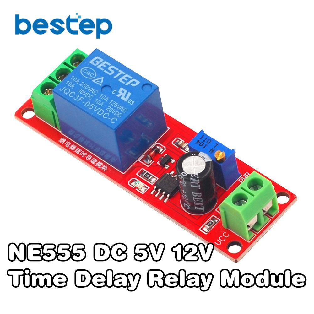 DC 5 V 12 V реле задержки времени NE555 реле времени Реле времени таймер задержки переключения автомобильные реле импульсный генератор рабочий ци...