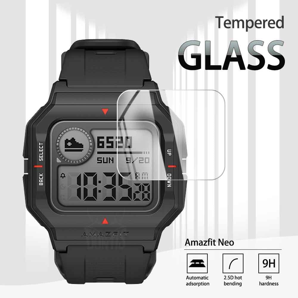 2.5D Tempered Glass Screen Protector For Xiaomi Amazfit Neo Smart Watch 2020 Explosion-proof Anti-Scratch Transparent Film transparent screen protector for xiaomi smart sports watch