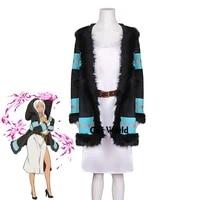 fire force princess hibana uniform coat dress outfit anime customize cosplay costumes