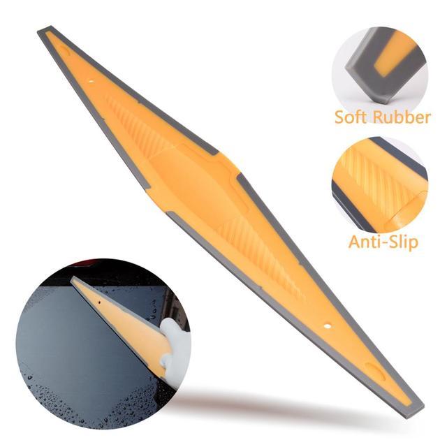 Скребок EHDIS для автомобильного окна, тряпка из углеродного волокна, виниловый скребок для удаления снега на лобовом стекле, инструмент для тонирования и мытья