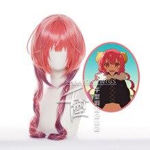 Anime Miss Kobayashi's Dragon Maid Iruru Cosplay Wig Heat Resistant Synthetic Hair Halloween Party W