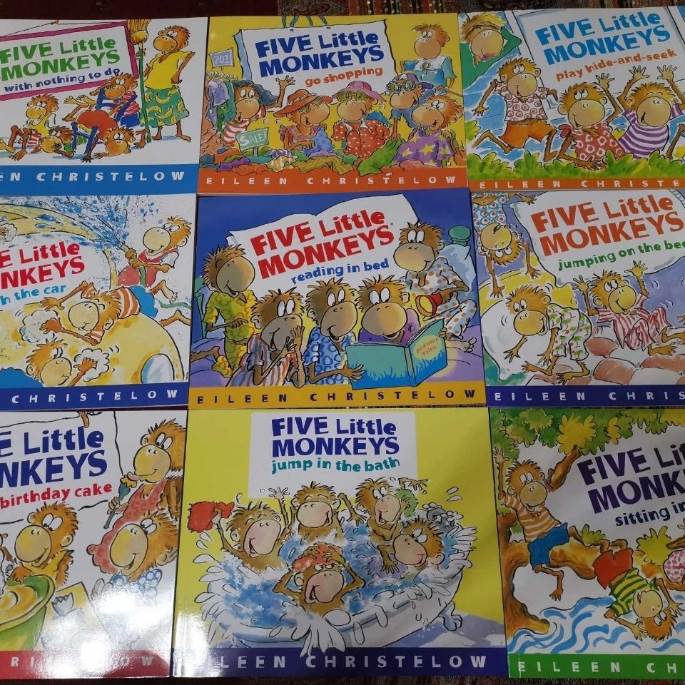9 Book/Set English Picture Book Five little monkeys English Storybook  Early Education Toys Books for Kids Reading Book недорого