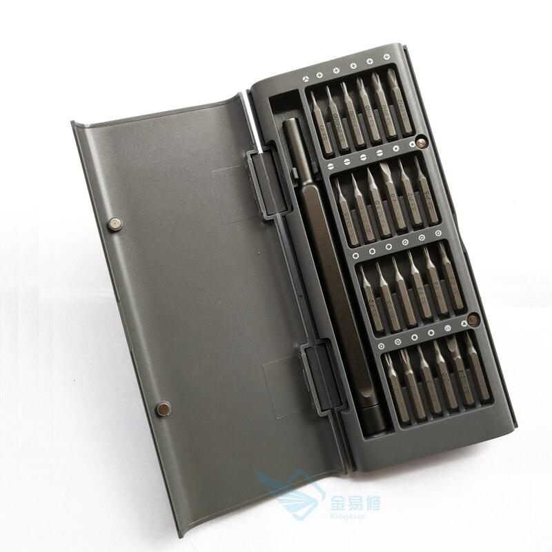 Ferramentas de Reparo em Casa 25 em 1 Kit de Driver de Parafuso de Precisão Atacado Lote 60hrc Bits Magnéticos Kit 24 Furos Profundos Parafuso Aço 100 Set –
