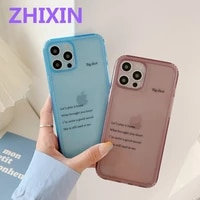 transparent clear back phone case for iphone 12 pro max 11 pro max shell soft tpu cover for iphone x xs xr 7 8 plus se 2020