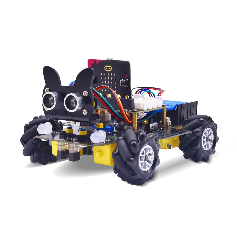 Keyestudio Micro:Bit V2 4WD Mecanum Wheel Robot Car Kit  For Microbit STEM Toys Makecode &Python Programming(NO Microbit V2 )