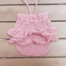 Newborn Photography Props Pants,  Baby Clothing, Hand-Knitted Mohair Rompers