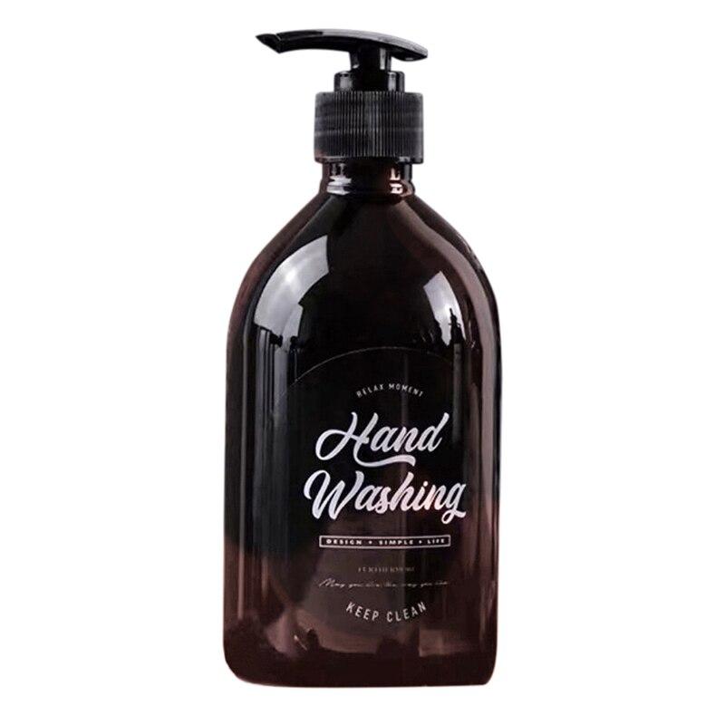 500ml Nordic Style Brown Bath Refillable Bottle Shower Gel Shampoo Press Bottle Shower Gel Refillable Bath Storage Bottles