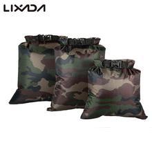 Lixada-sacs secs secs étanches 3 pièces, sacs dextérieur pliables 3l + 5l + 8l, ensemble pour Camping, dérive, natation, Rafting, kayak