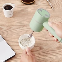 1pcs rechargeable wireless portable electric food mixer hand blender kitchen dough blender egg beater milk frother machine
