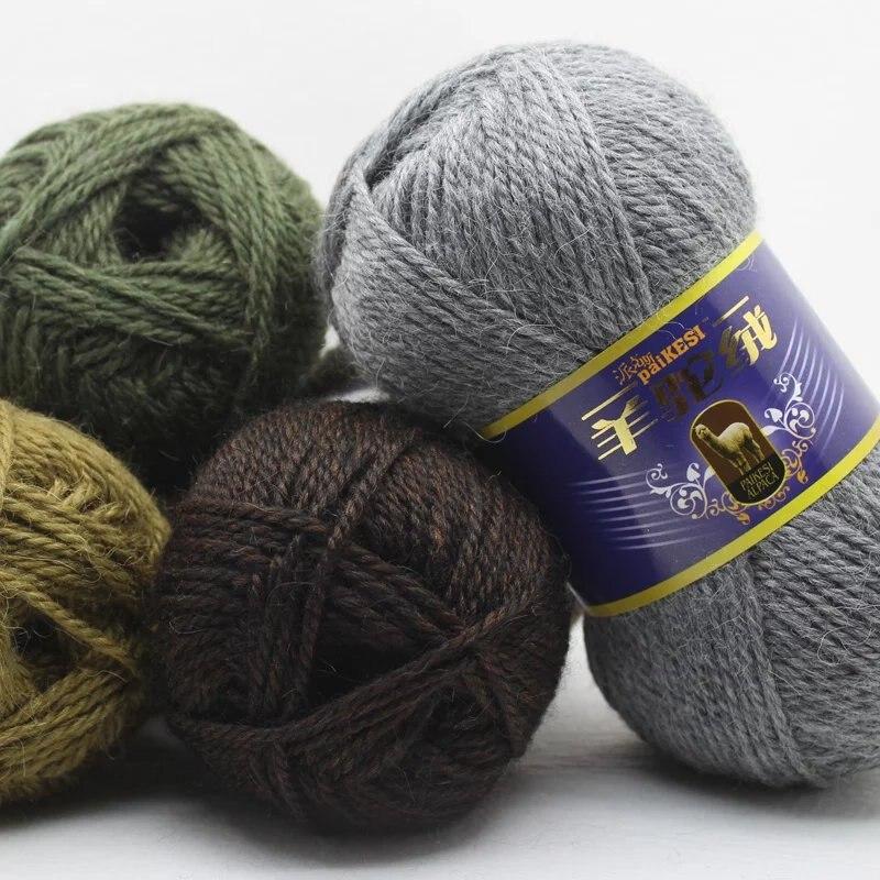 Цветная плотная пряжа для вязания крючком, 500 г/лот, детская трикотажная пряжа для ручного вязания, Альпака шерстяная пряжа