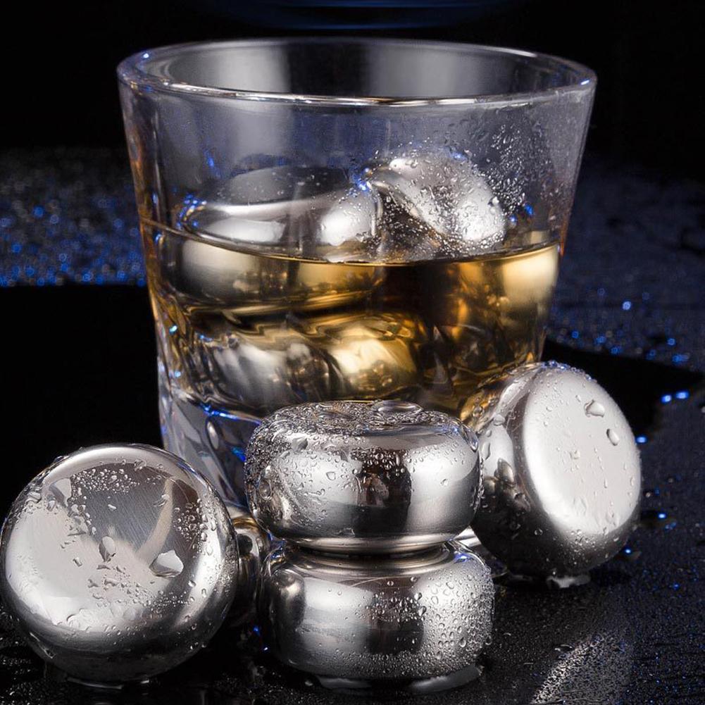 6 pçs reusável de aço inoxidável de grau alimentício forma xadrez cubos gelo uísque vinho refrigerar cubo chilling rock party barra ferramenta