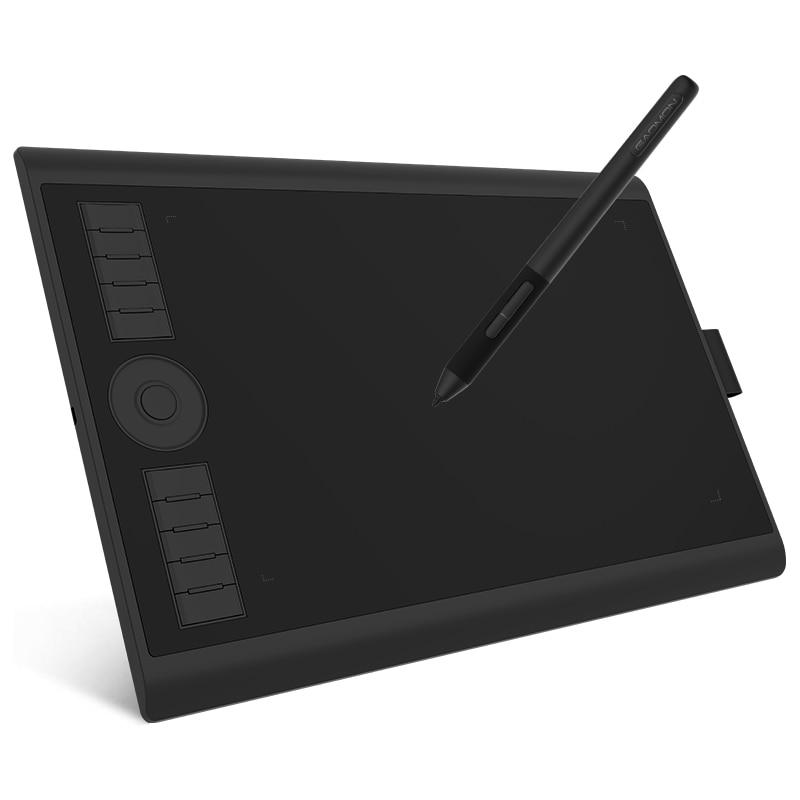 GAOMON-جهاز كمبيوتر لوحي رقمي للرسومات M10K PRO ، 10 × 6.25 بوصة ، للرسم ، يدعم وظيفة الإمالة ووظيفة شعاعية مع 10 مفاتيح وصول سريع