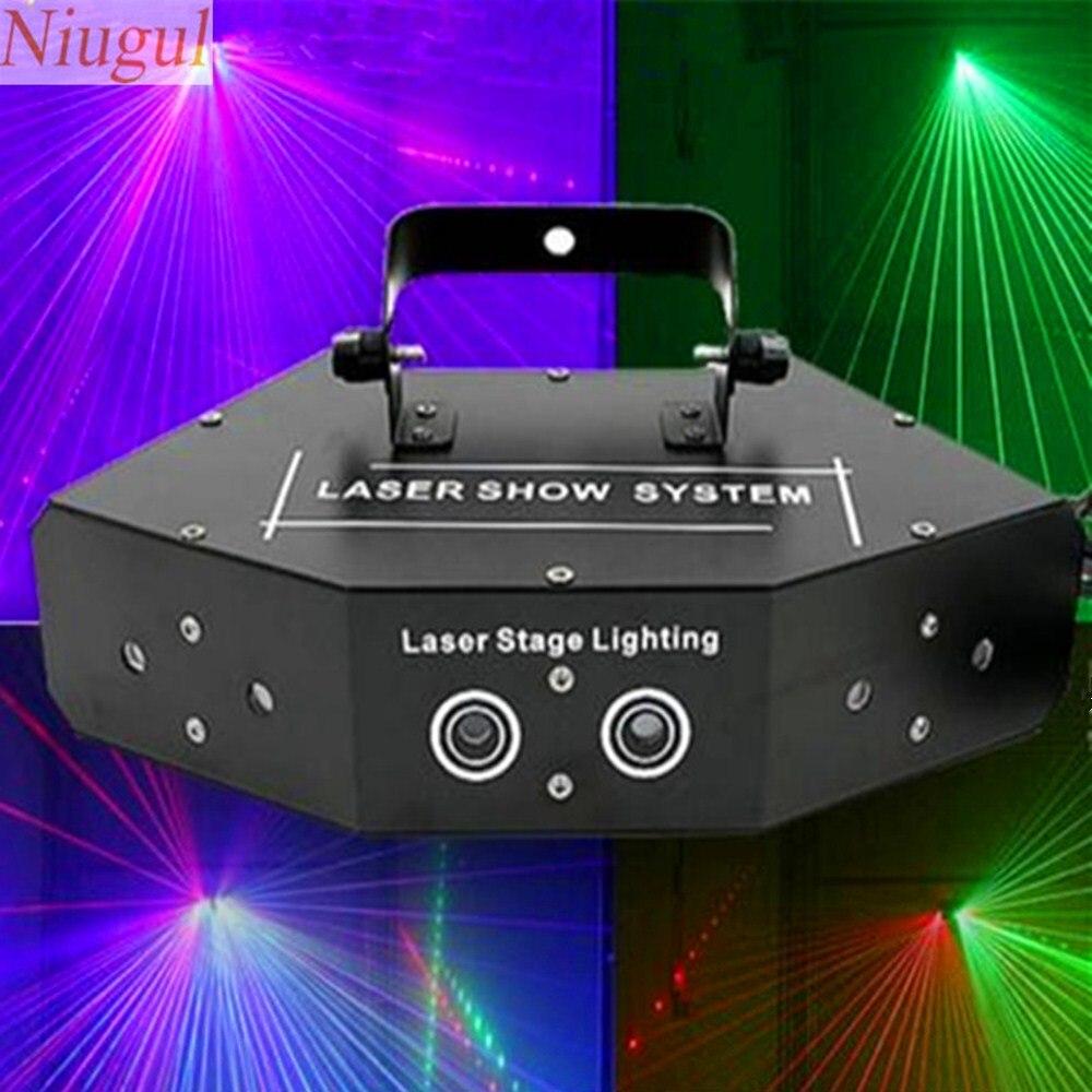 6 lente rgb varredura laser cor cheia dmx512 feixe efeito luzes iluminacao de palco