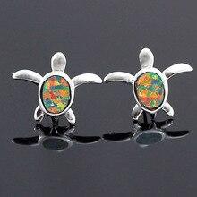 HAIMIS offre spéciale cinq couleurs belle tortue femmes filles et hommes oreille boucles doreilles opale OE162