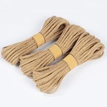 Original Hemp Crafts DIY Handmade Material Manual 10M/Roll Wedding Tags Decor Gift Box Cord Wrap Decor Twine Rope Hemp String