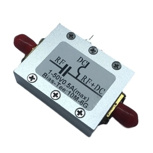 Bias Tee RF Amplifier Radio Module Coaxial Bias Low Noise 10MHz-6GHz Low Insertion Loss RF DC Blocker