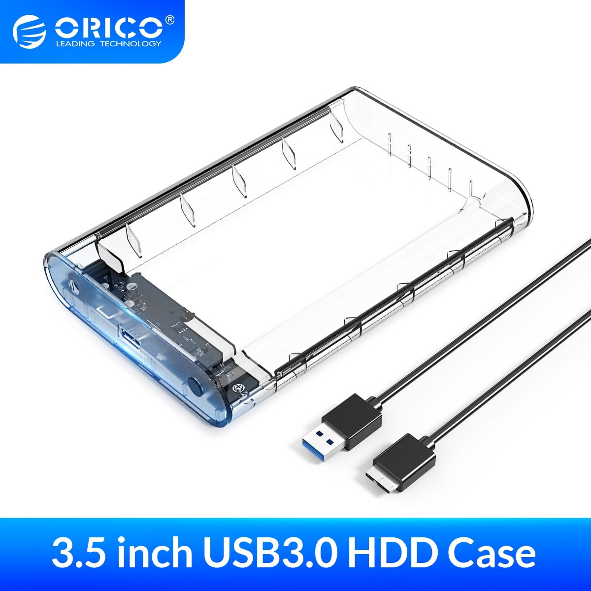 ORICO-حافظة للقرص الصلب ، 3.5 USB3.0 إلى SATA3.0, محول خارجي ، متوافق مع بروتوكول UASP 8 تيرا بايت ، 2.5 3.5 HDD SSD