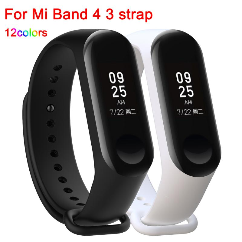 Strap For Xiaomi Mi Band 4 3 Silicone Wristband Bracelet Replacement For Xiaomi Band 3 4 MiBand 4 3