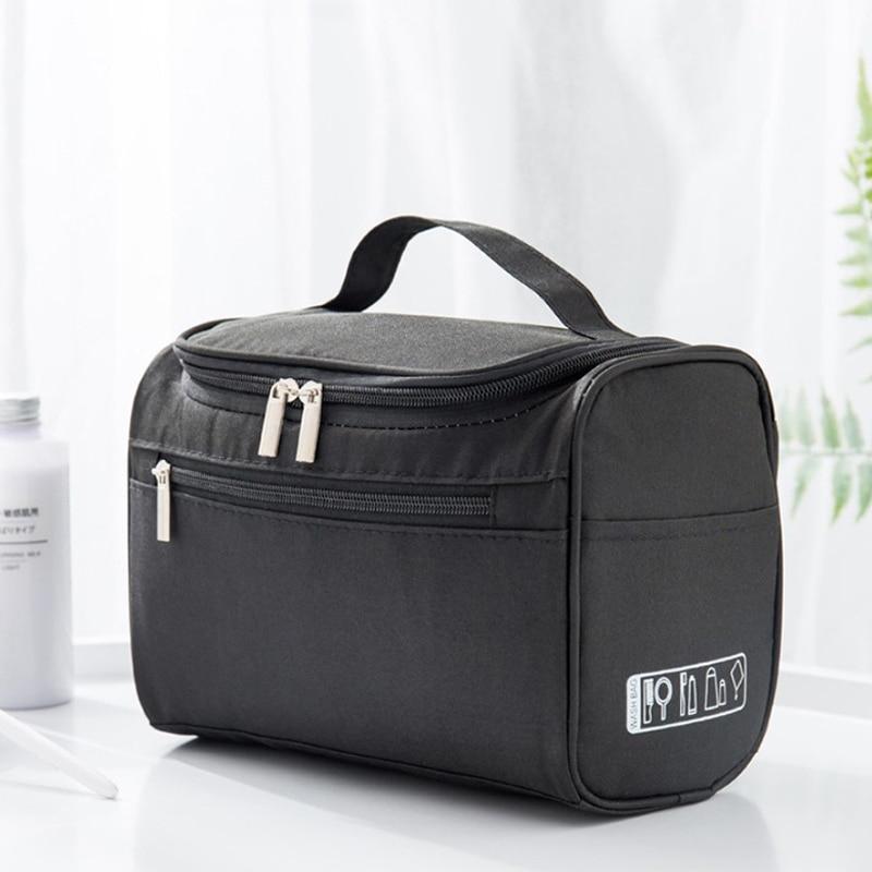 Organizador de almacenamiento de cosméticos, bolsa de gran capacidad con cremallera colgante,...
