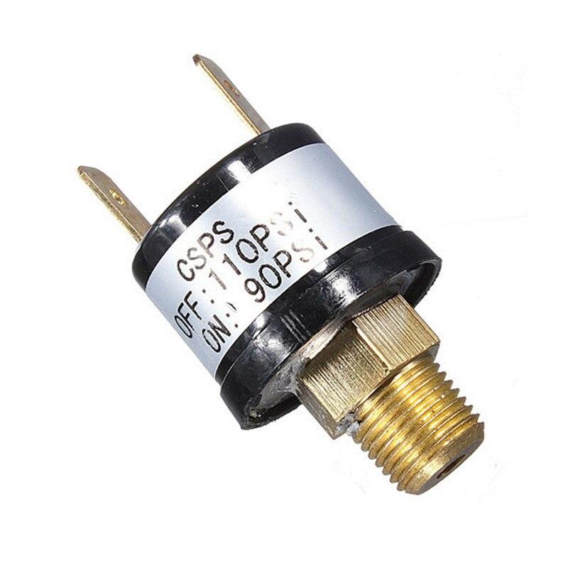 Interruptor de Control inteligente de presión de compresor de aire PSI de alta resistencia 90-110 interruptor de compresores de suspensión de aire de bocina de aire de válvula automática 3.5A