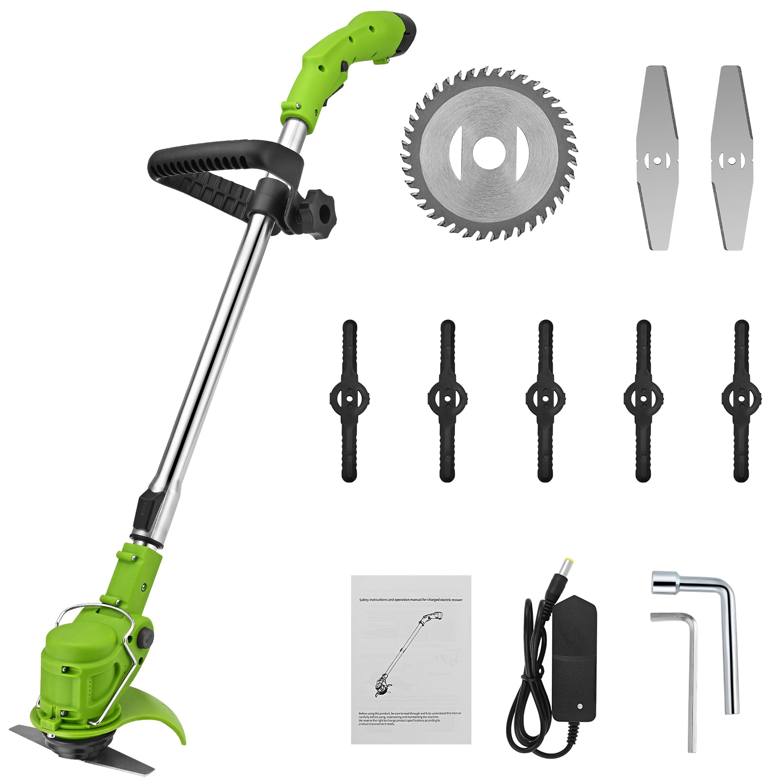 2-in-1 Electric Cordless Grass Trimmer Hedge Trimmer 12 V 3000 mAh Battery Lawn Mower For Weeding Brush Cutter Garden Tools