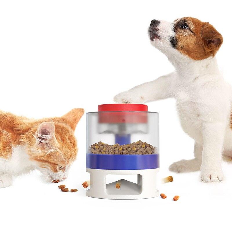 Интерактивная игрушка, кормушка для домашних питомцев, кухонная утварь для еды собак, дозатор корма для кошек, забавное кормление, игрушка д...