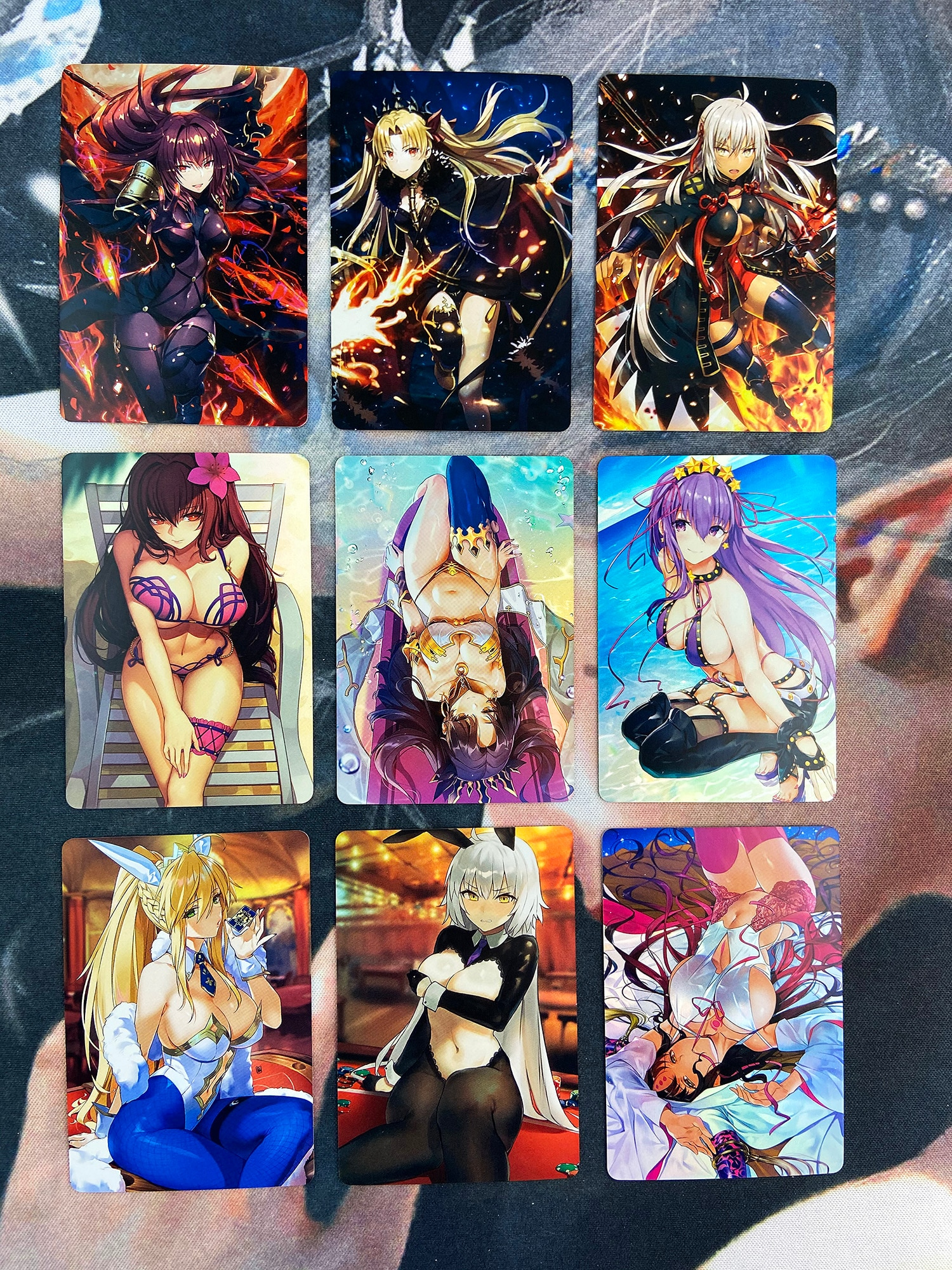 9pcs/set Fate Fgo Fate/grand Order No.6 Toys Hobbies Hobby Collectibles Game Collection Anime Cards japan anime fate grand order original banpresto exq collection figure ruler malta
