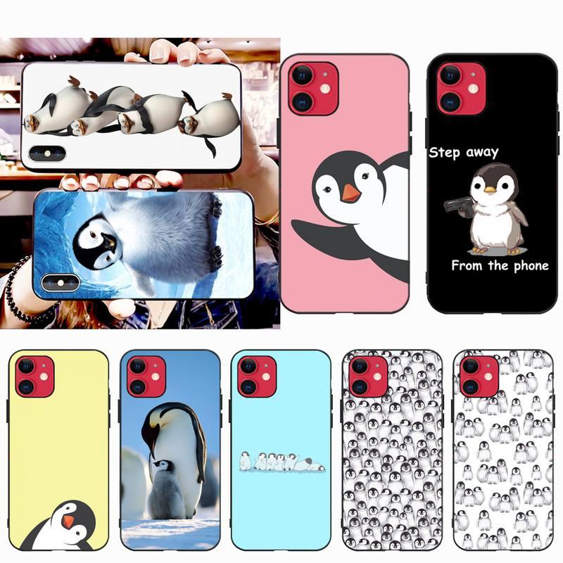 Funda dura HPCHCJHM con diseño de pingüino para iPhone 11 pro XS MAX 8 7 6 6S Plus X 5S SE 2020 XR