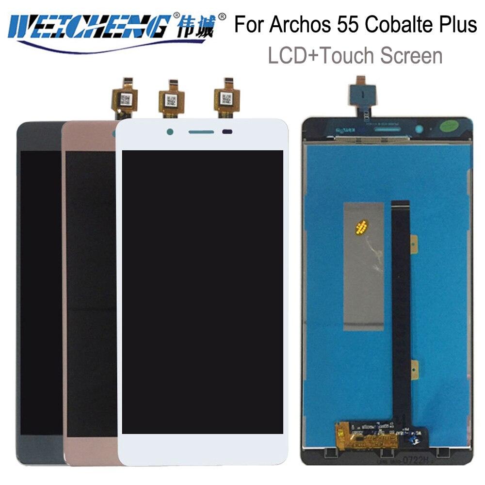 Weicheng para archos 55 cobalte mais display lcd + montagem da tela de toque para 55 cobalte mais display lcd ferramentas gratuitas
