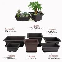 imitation purple sand fleshy flower pot tray rectanglesquare nursery planter garden pots trays planters with tray newest