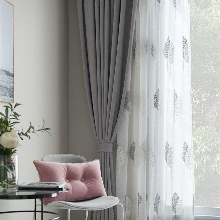 Nórdico simples simples cortinas blackout moda estilo moderno cortinas para sala de estar quarto luxo europeu