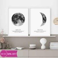 Affiches de peinture sur toile pour decoration de noel  tableau dart mural de lune pour decoration de salon  decoration de maison