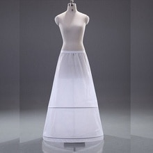 Vestido de novia blanco con línea A, ropa Formal con 2 aros, crinolina, accesorios de boda, gran oferta