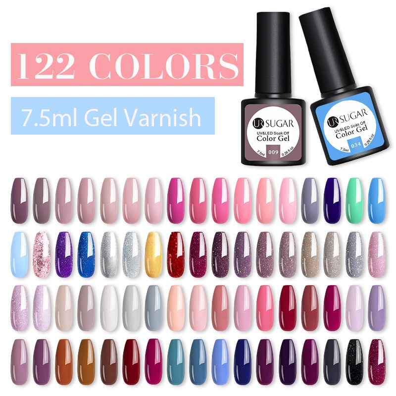 Azúcar UR 122 Color Set de geles para pulido de uñas UV barniz Semi permanente barniz de Gel para remojo Kit de manicura uñas de Gel