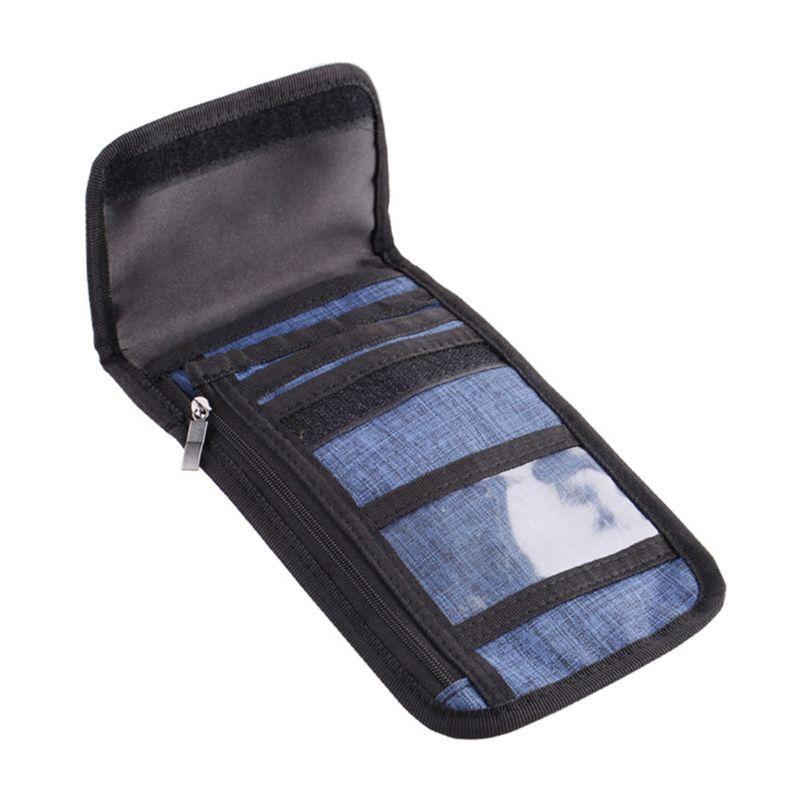 Bolsa de cuello de viaje porta pasaporte RFID bloqueo bolso de hombro cartera carteras ocultas 11UE