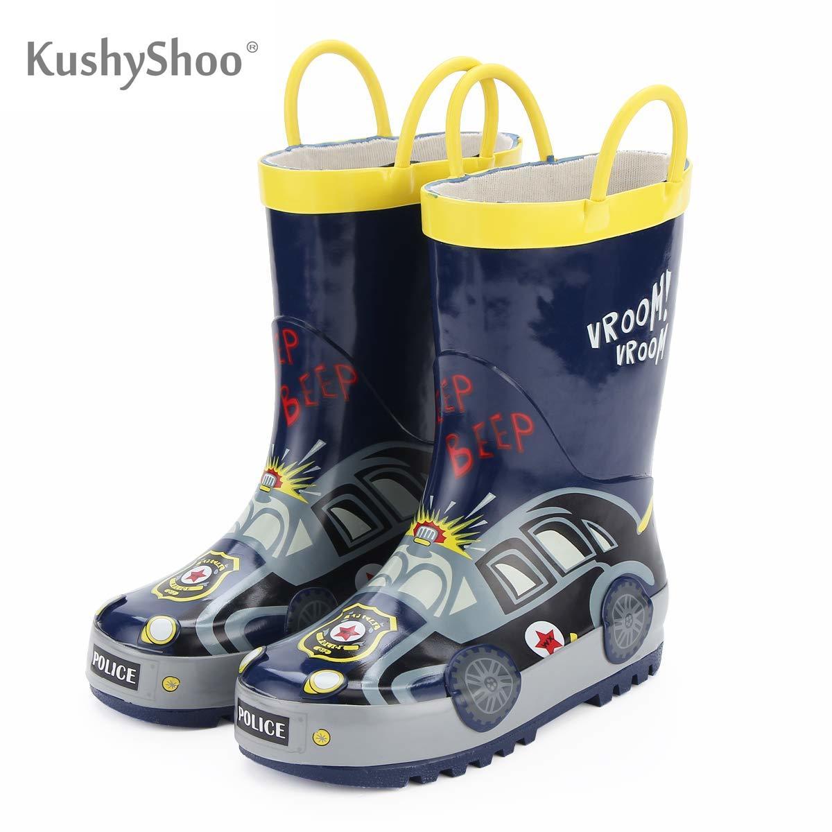 KushyShoo-أحذية المطر للأطفال ، أحذية المطر المقاومة للماء Loverly ، المطاط في الهواء الطلق