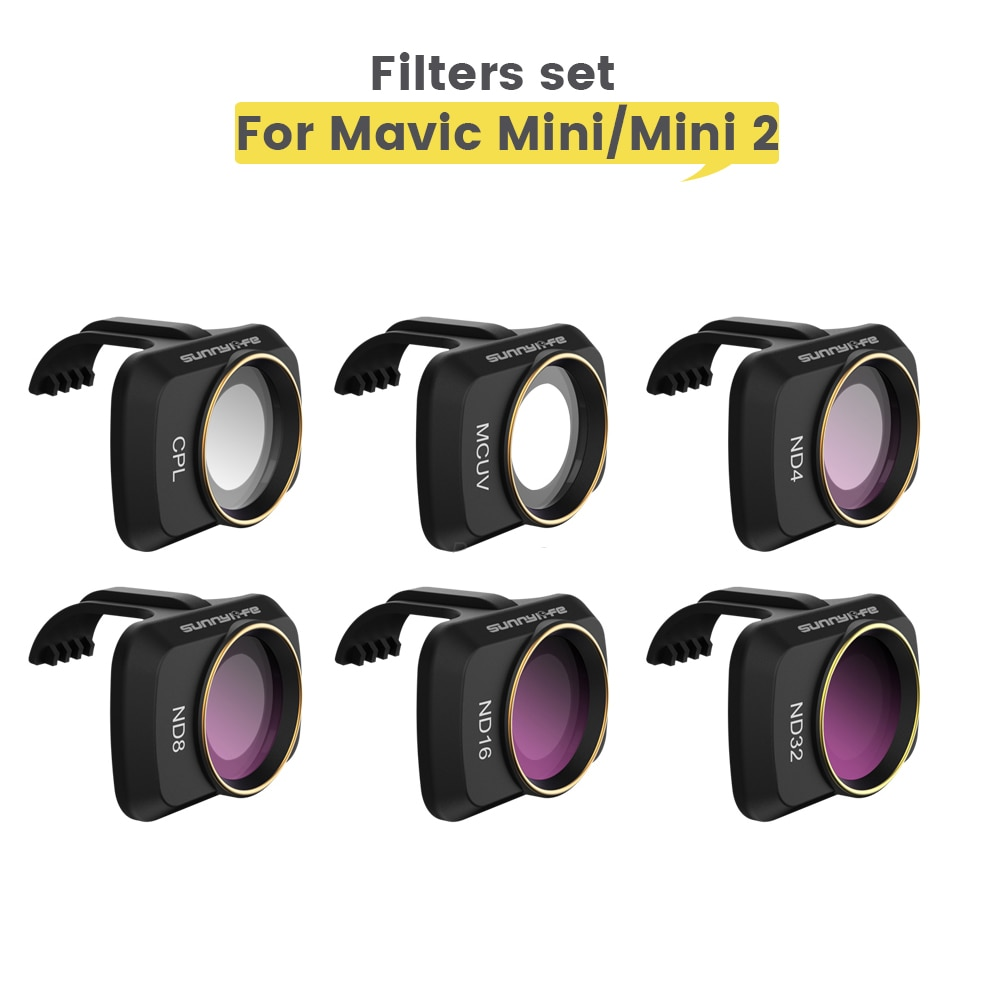 ل DJI Mini/Mini 2 كاميرا طائرة دون طيار Gimbal عدسة تصفية MCUV CPL ND عدسة الكاميرا Sunhood حامي ل DJI Mavic Mini SE اكسسوارات