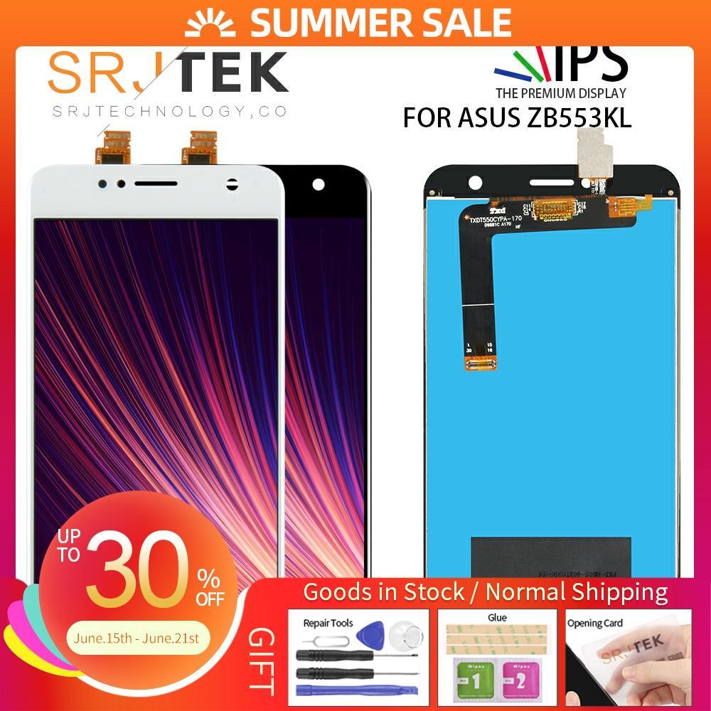 Sin píxeles muertos 5,5 para Asus Zenfone 4 Selfie ZB553KL LCD X00LD X00LDA pantalla LCD MONTAJE DE PANTALLA TÁCTIL ZB553KL piezas de repuesto