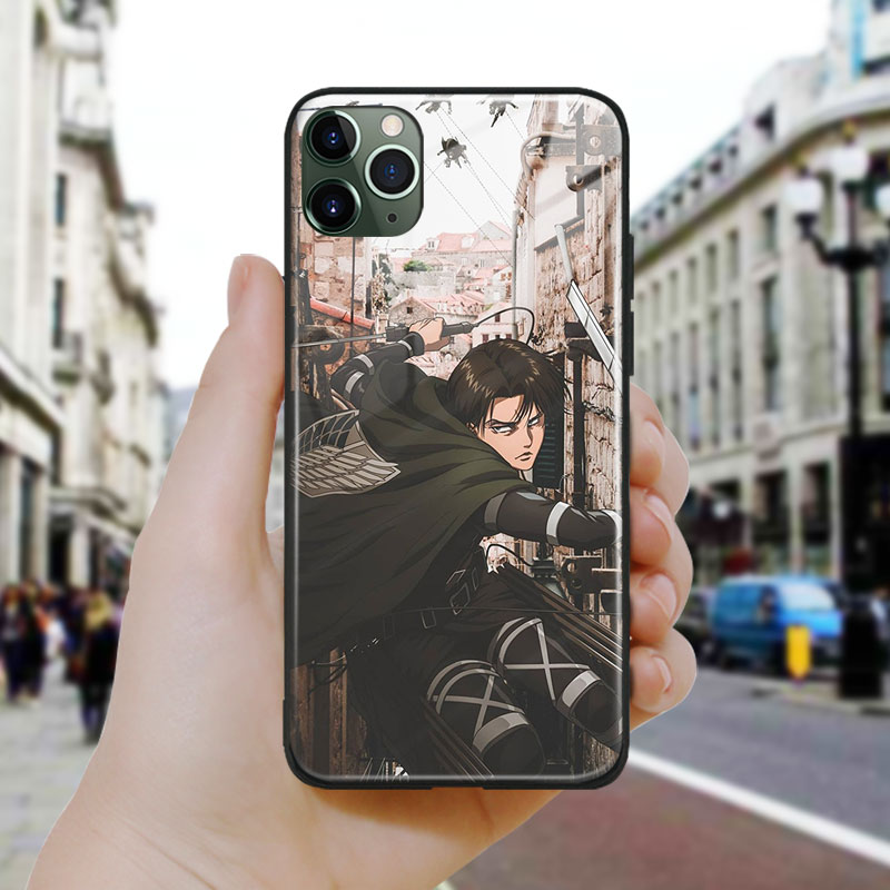 attack on titan anime rival art Glass Soft Silicone Phone Case Cover Shell for iPhone SE 6s 7 8 Plus X XR XS 11 12 Mini Pro Max