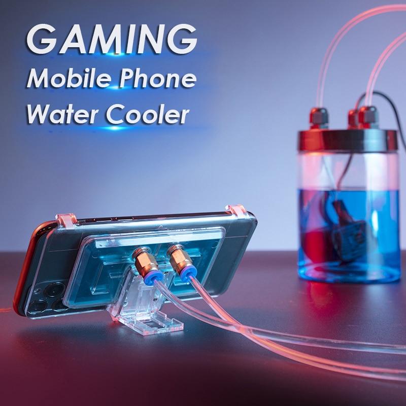 Radiador de refrigeración de agua para teléfono móvil, teléfono Universal, enfriador de agua, soporte de ventilador portátil ajustable para iPhone Samsung Huawei
