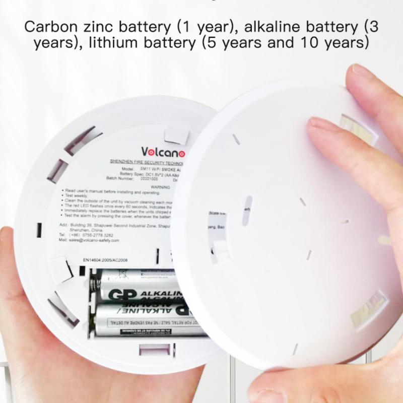 WIFI Smoke Detector Tuya Smart Life APP Control Rauchmelder Home Security Fire Alarm Ultra-Thin Alarm Sensor LED Indicator Flash enlarge