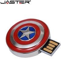 Clé USB JASTER 2.0 clé USB Ironman 4 go 8 go 16 go 32 go 64 go mémoire Flash USB u-disk lumière bleue LED 32 go 64 go stylo